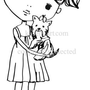 נערה עם כלב