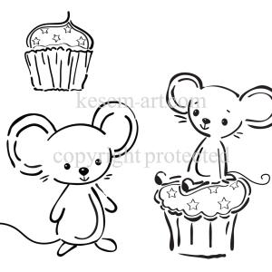 עכברים וקאפקייק